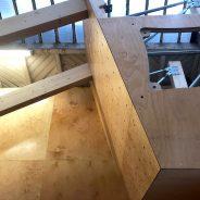 Extension salle de grimpe (Pose des blocs de grimpe)